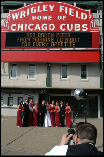 Chicago Cubs Wedding photo from America 24/7
